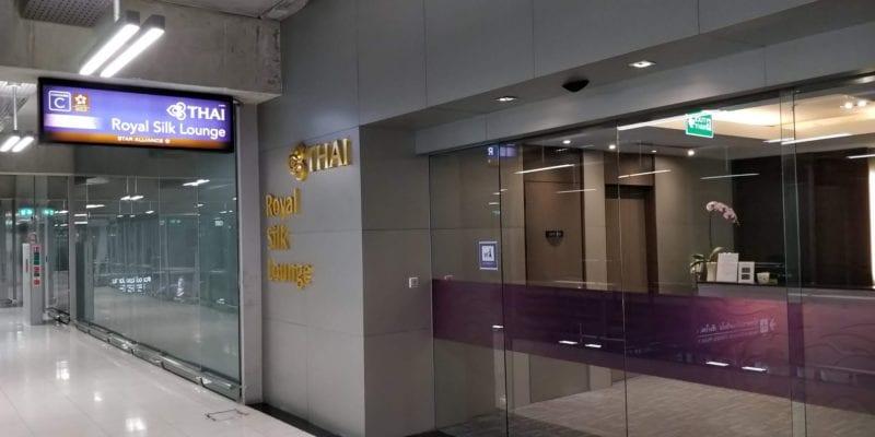 Thai Airways Royal Silk Lounge Bangkok Eingang