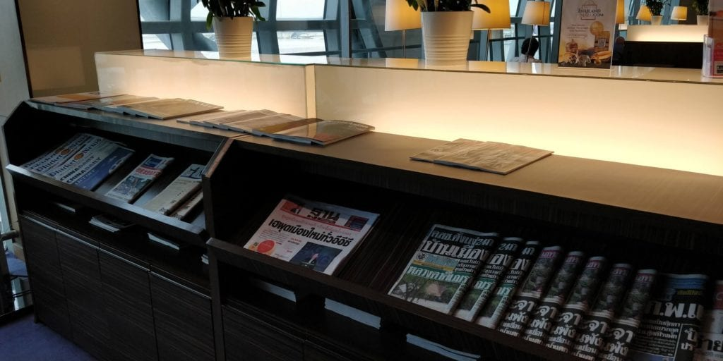 Thai Airways Royal Silk Lounge Bangkok Zeitschriften
