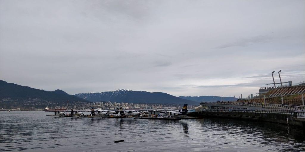 Vancouver Berge Wasserflugzeuge Kanada