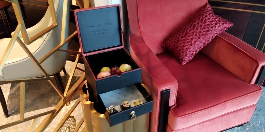 Waldorf Astoria Chengdu Willkommensgeschenk