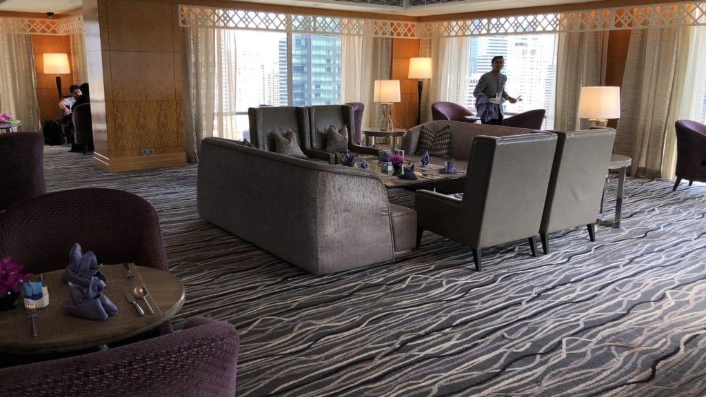 Mandarin Oriental Kuala Lumpur Club Lounge Sitzgelegenheiten