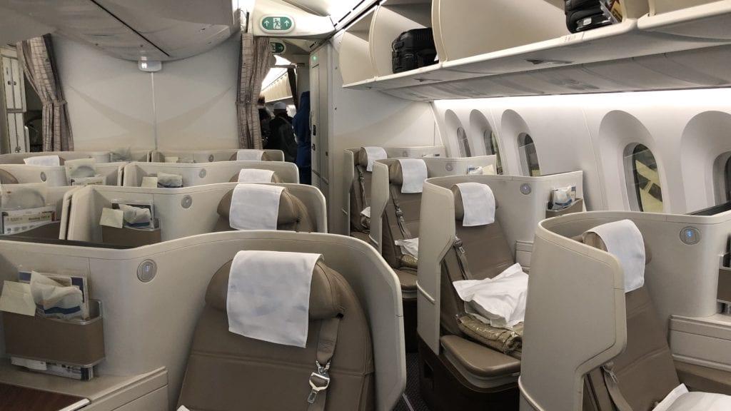 Saudia Business Class Boeing 787 Kabine