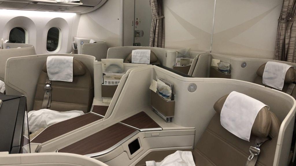 Saudia Business Class Boeing 787 Mittelsitze