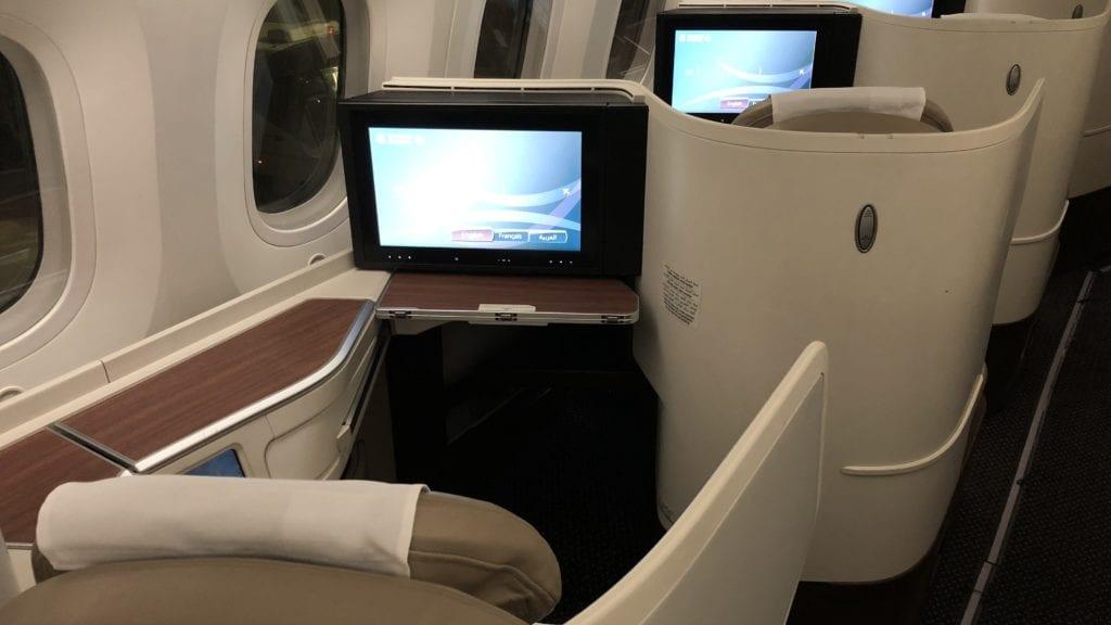 Saudia Business Class Boeing 787 Sitz Hinten