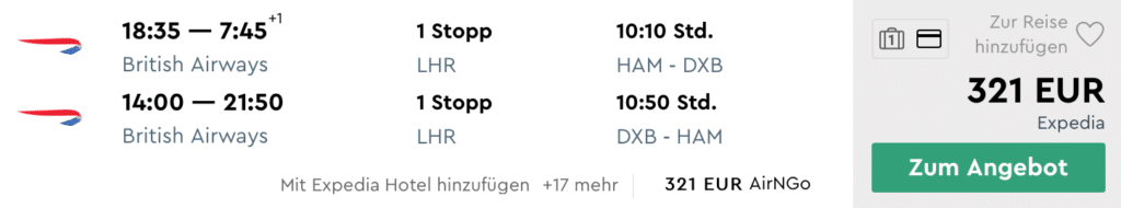 HAM DXB