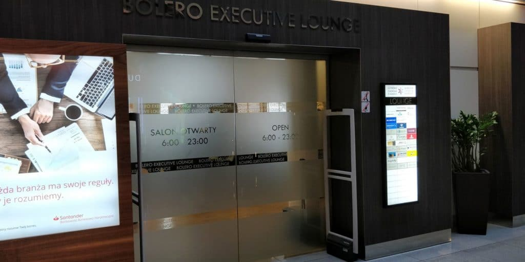 Bolero Executive Lounge Warschau Eingang