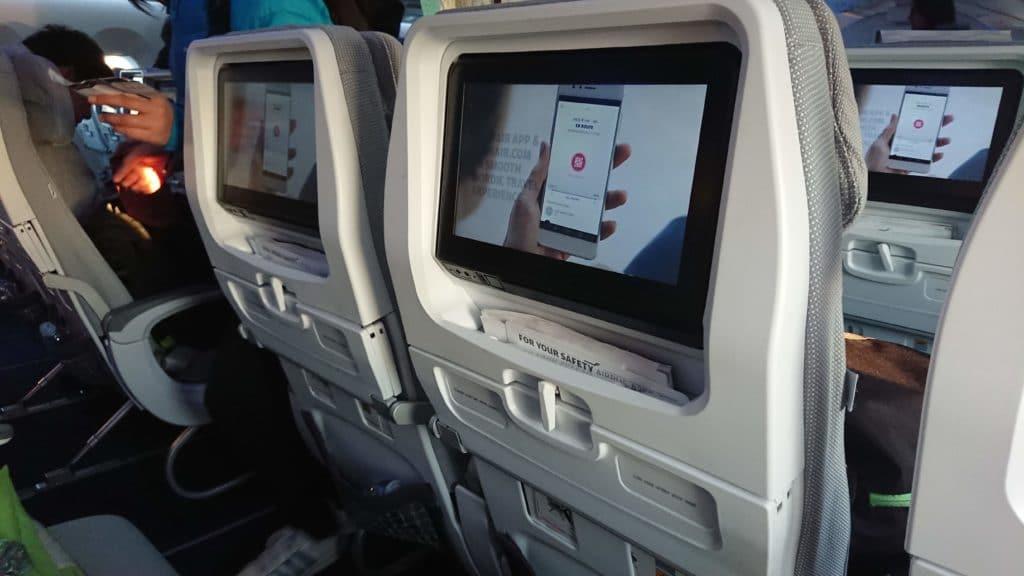 Finnair Economy Class bildschirm