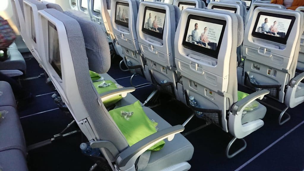 Finnair Economy Class Sitz hinten