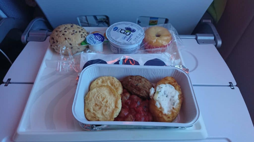 Finnair Economy Class Frühstück