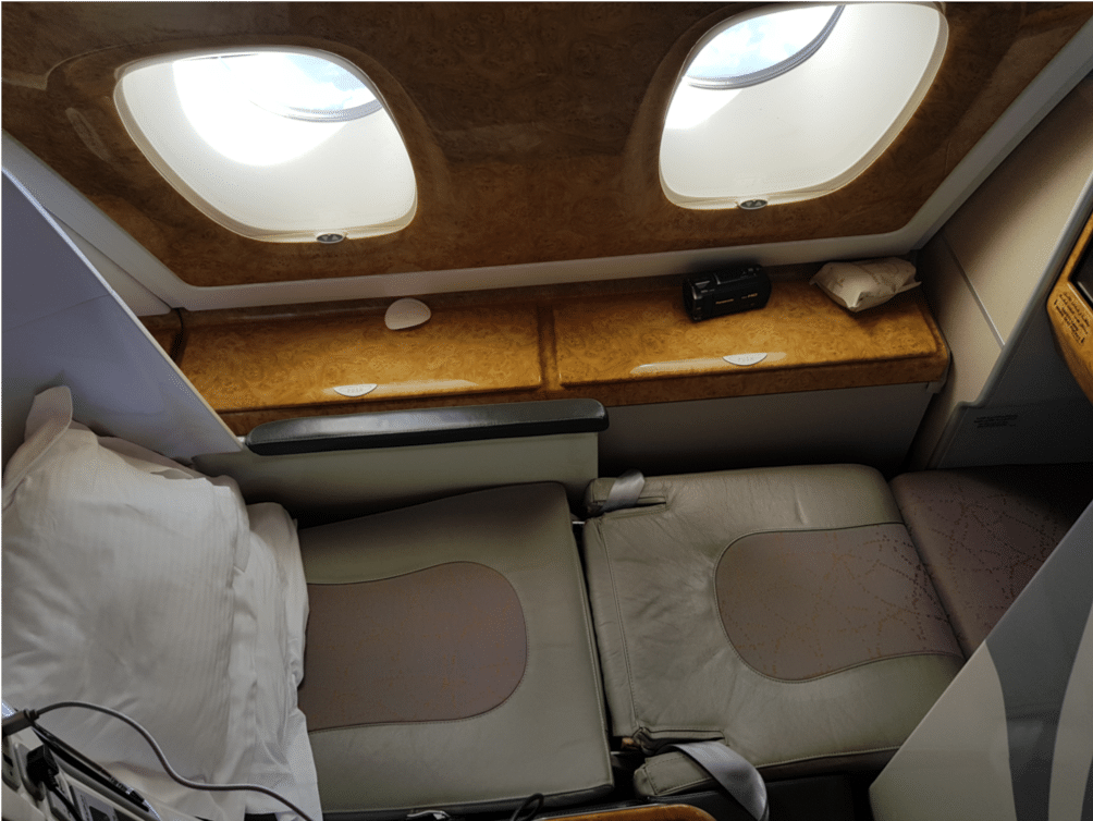 Emirates Business Class Airbus A380 Bett