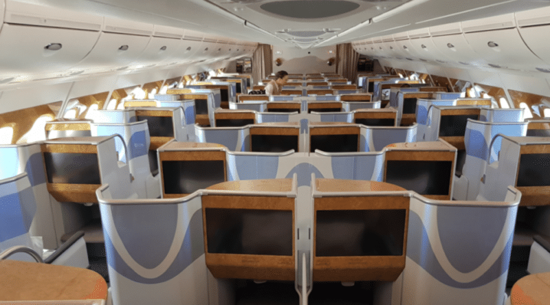 Emirates Business Class Airbus A380 Kabine