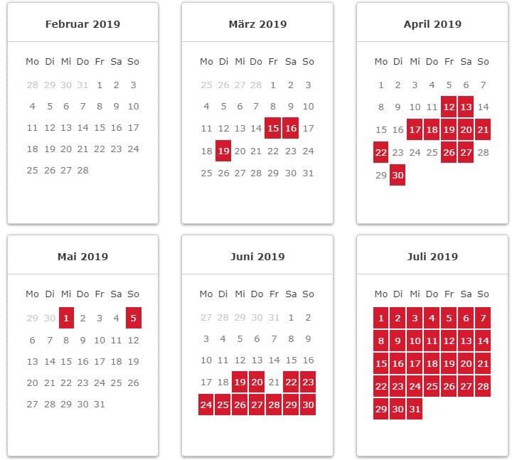 Iberia Award Chart Saisons