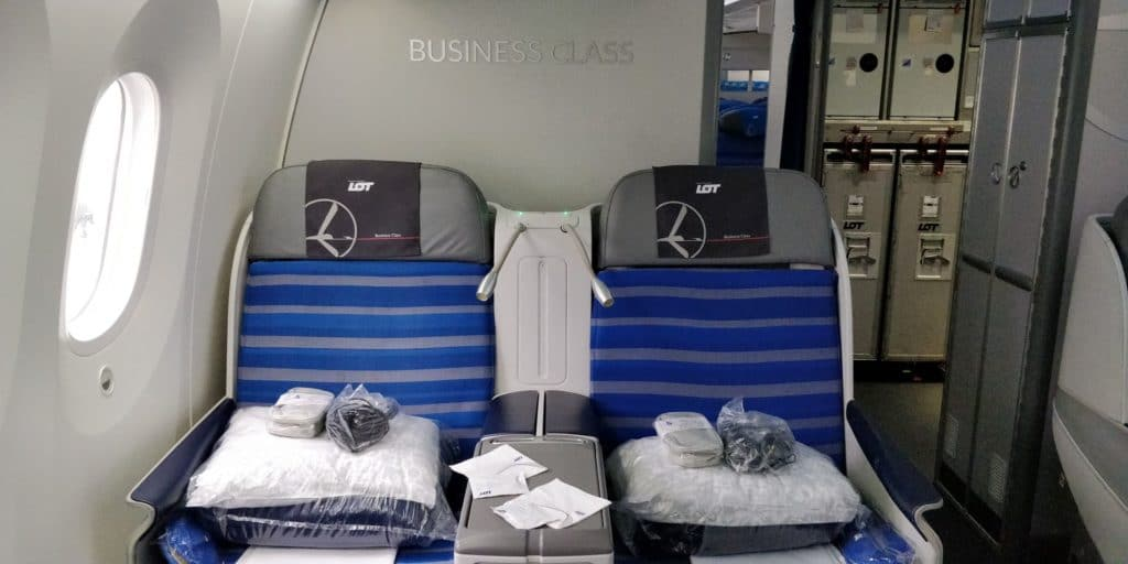 LOT Business Class Langstrecke Sitz 2