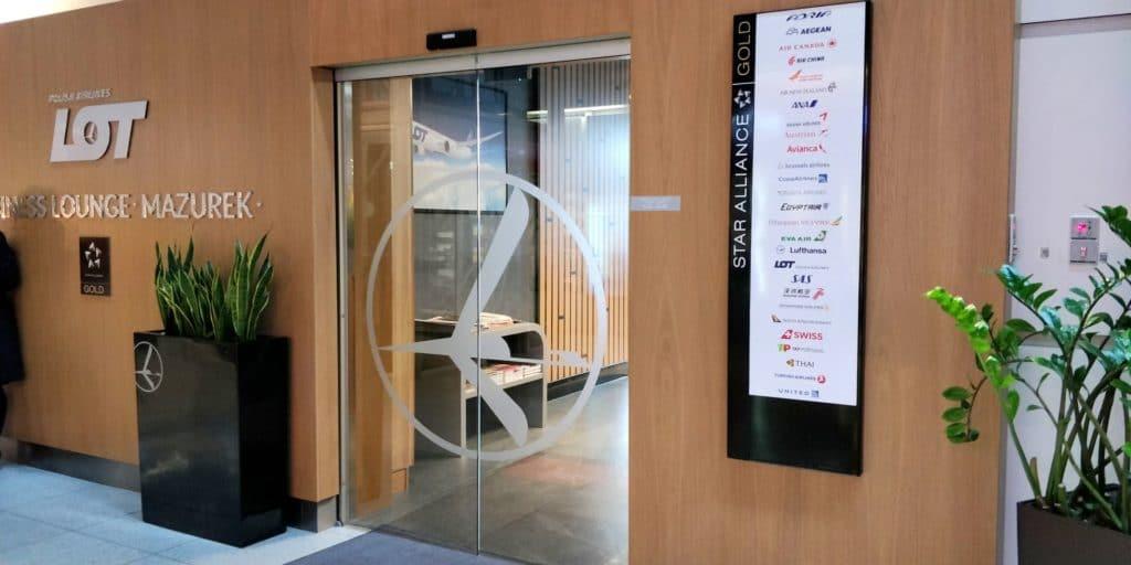 LOT Business Lounge Non Schengen Eingang