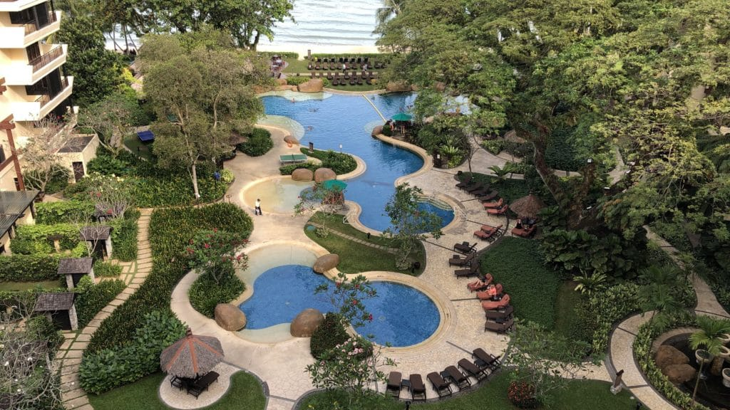 Shangri La Rasa Sayang Resort Pengang Pool Anlage