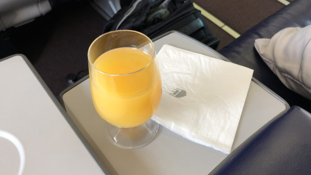 Malaysia Airlines Business Class Kurzstrecke Boeing 737 Drink