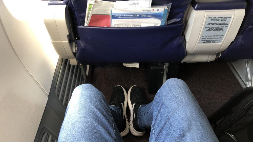 Malaysia Airlines Business Class Kurzstrecke Boeing 737 Sitzabstand