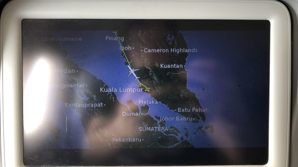 Malaysia Airlines Business Class Kurzstrecke Boeing 737 Unterhaltungssystem