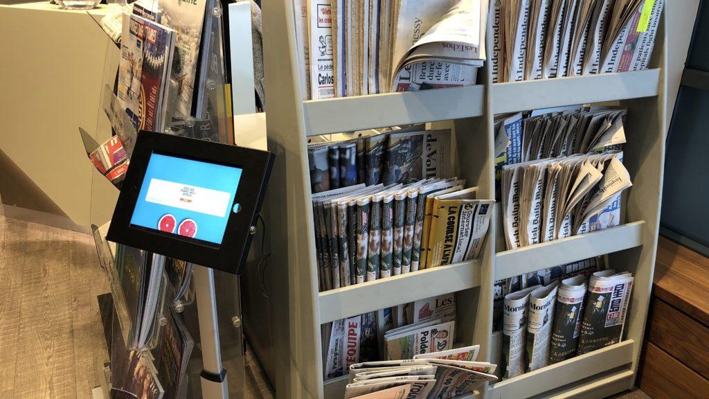 T1 Lounge Dublin Zeitungen