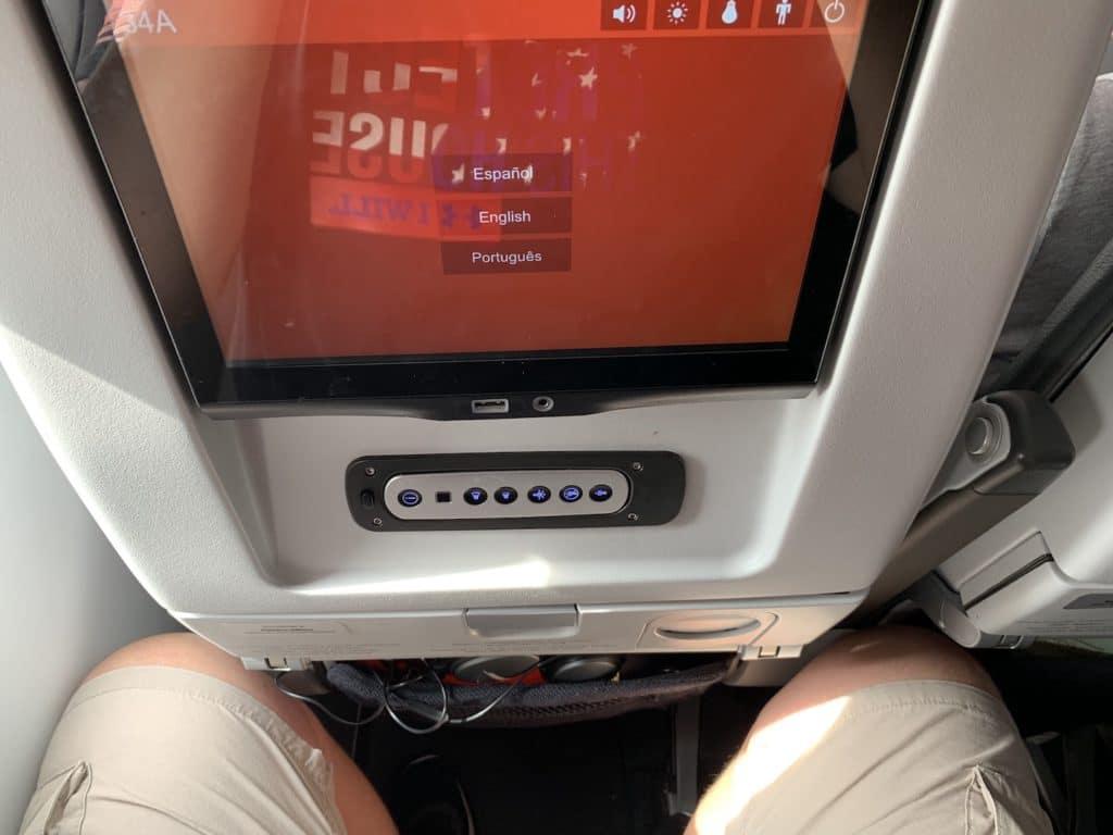 Avianca Economy Class Kurzstrecke A321 Neo Sitz Beinfreiheit