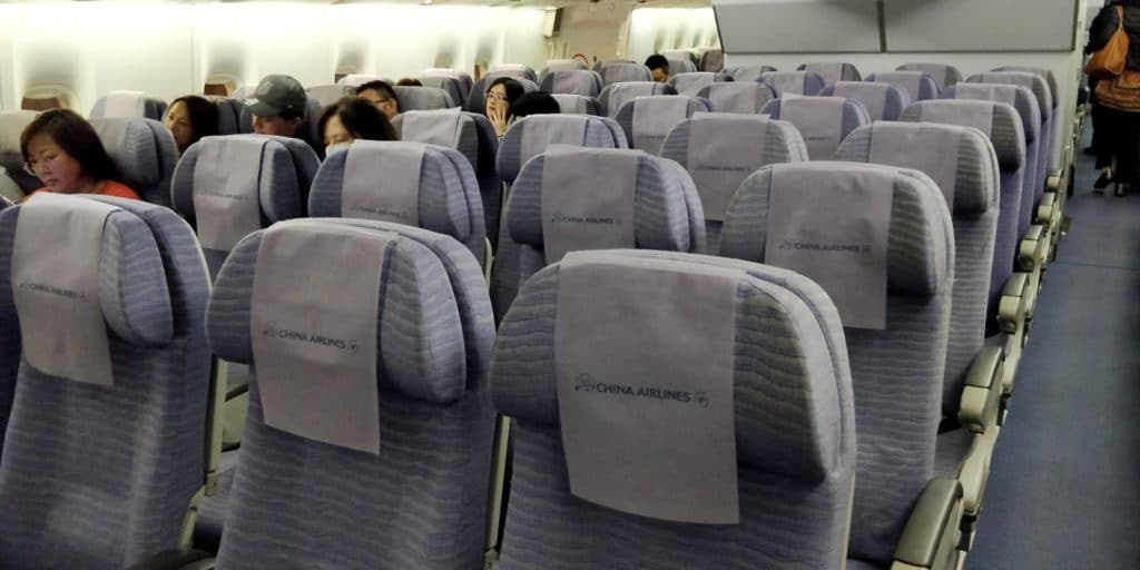 China Airlines Boeing 747 Economy Class Sitz