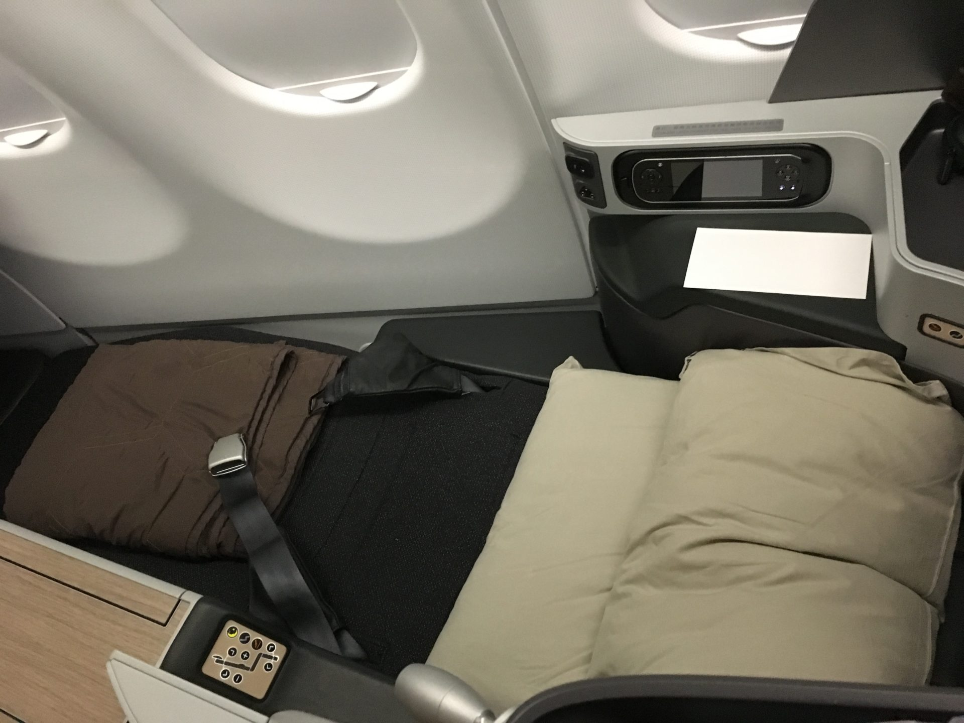EVA Air Business Class Airbus A330 Bett