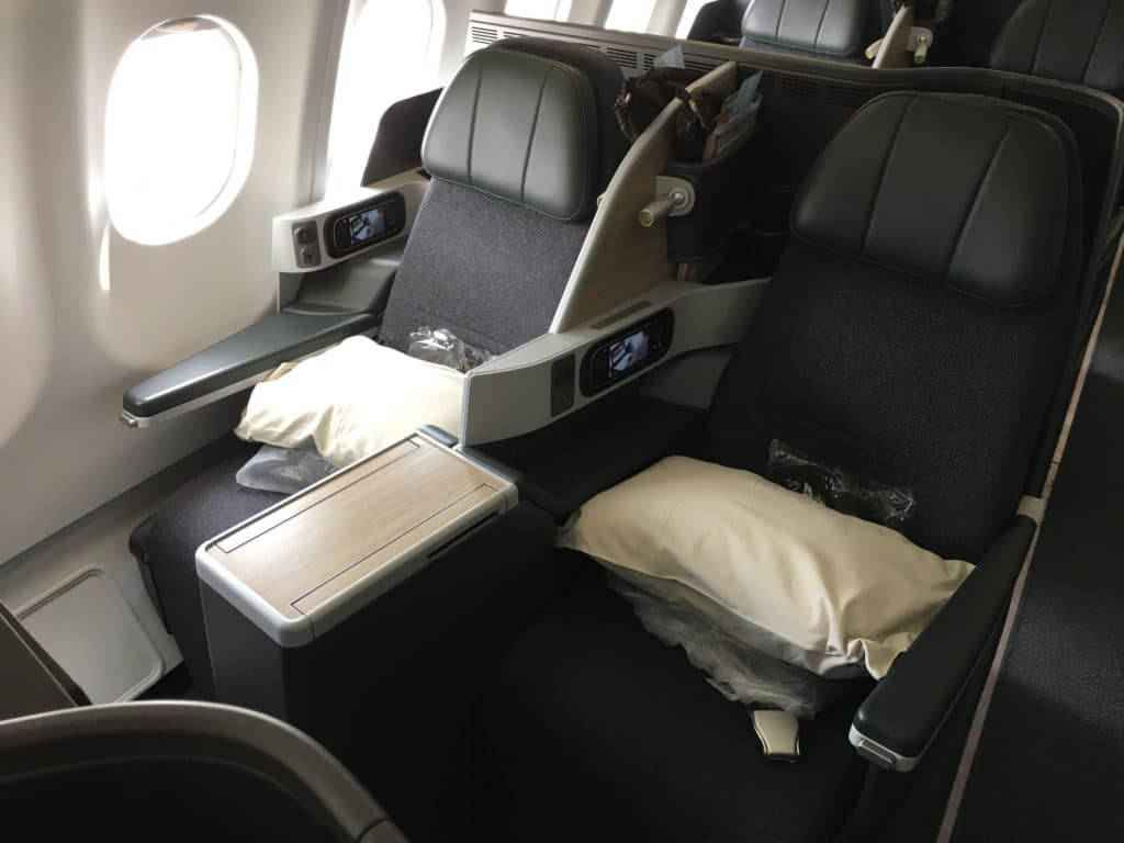 EVA Air Business Class Airbus A330 Kabine 2