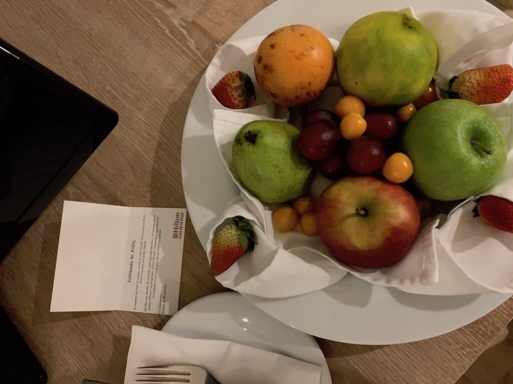 Hilton Garden Inn Santa Marta Willkommensgeschenk