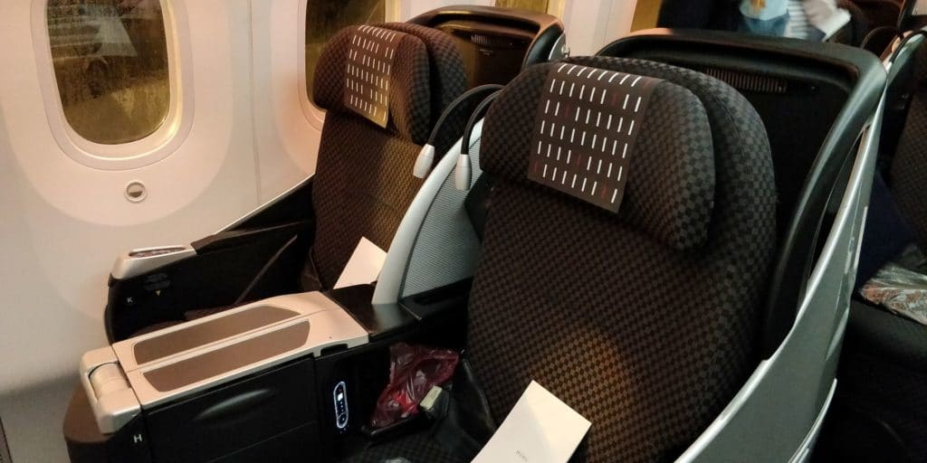 Japan Airlines Business Class Boeing 787 Sitz 2