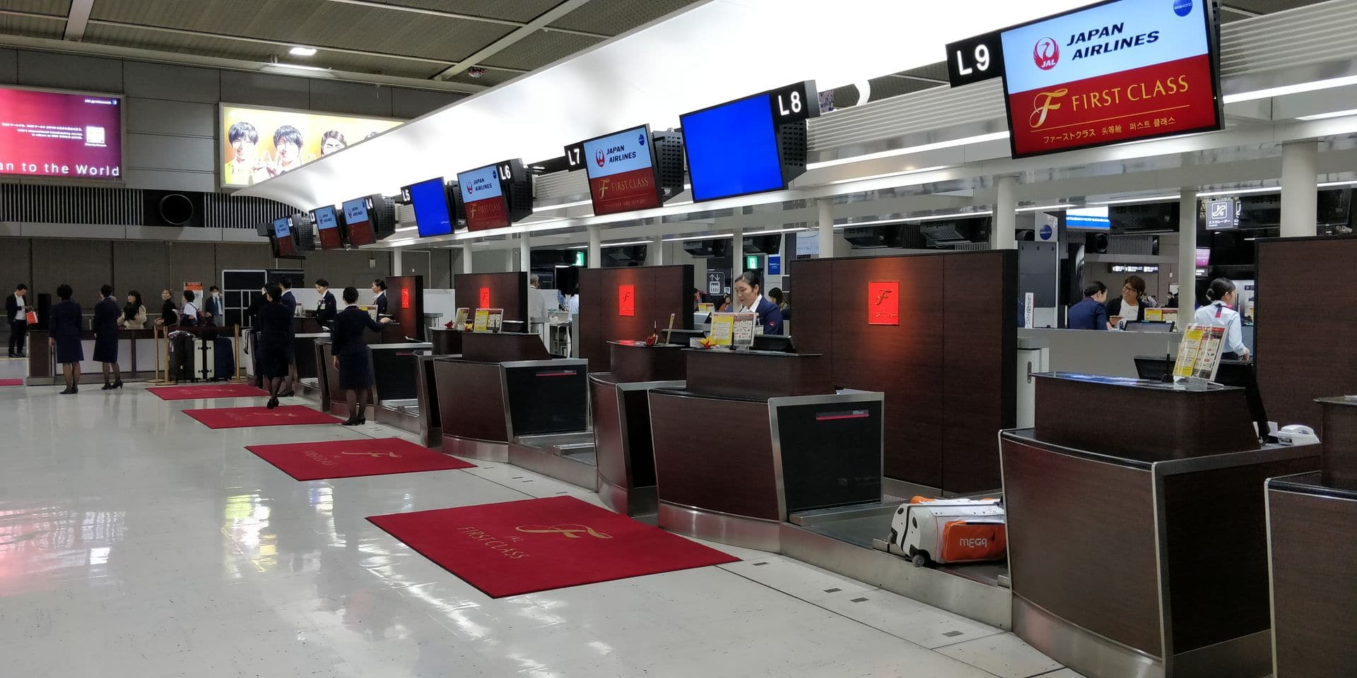 Japan Airlines First Class Check In Narita