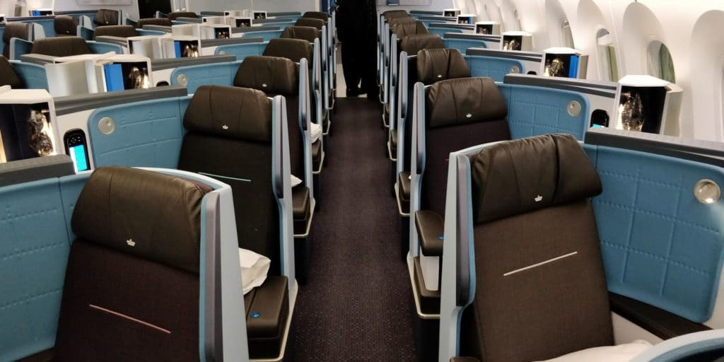 KLM Business Class Boeing 787 Kabine