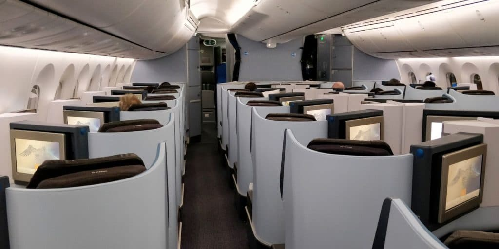KLM Business Class Boeing 787 Kabine 2