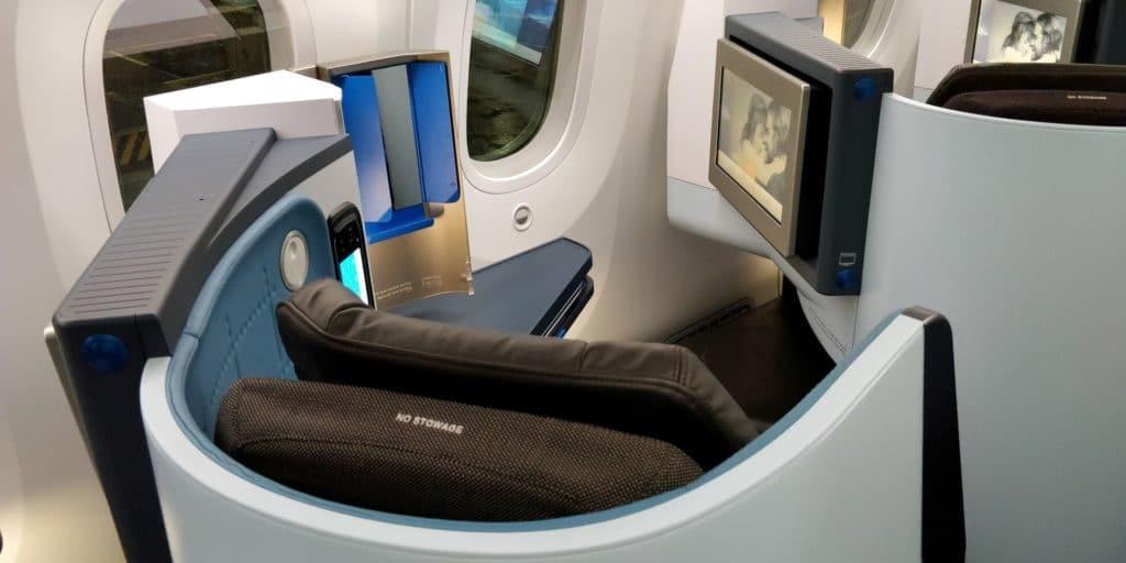 KLM Business Class Boeing 787 Sitz 7