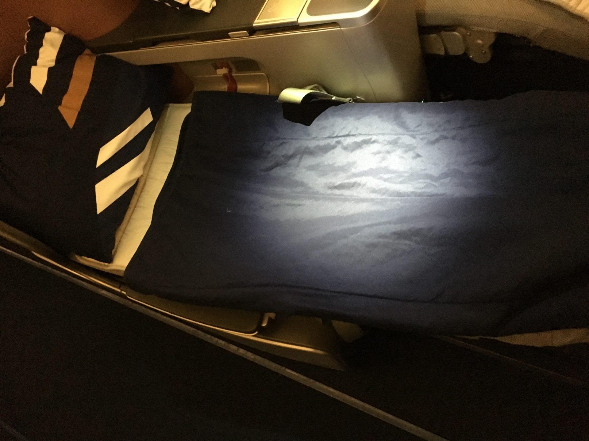 Lufthansa Business Class Airbus A380 Bett