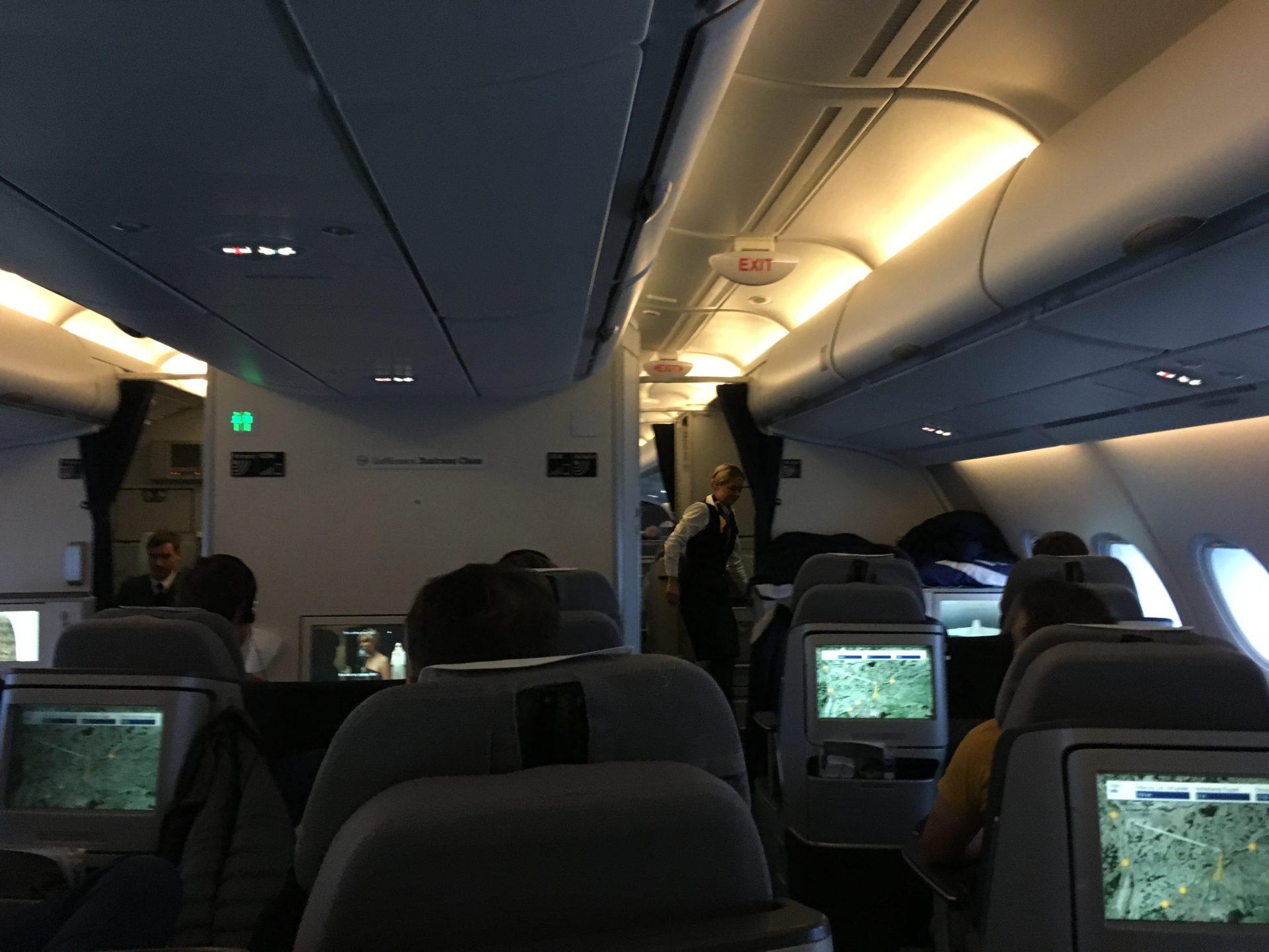 Lufthansa Business Class Airbus A380 Kabine