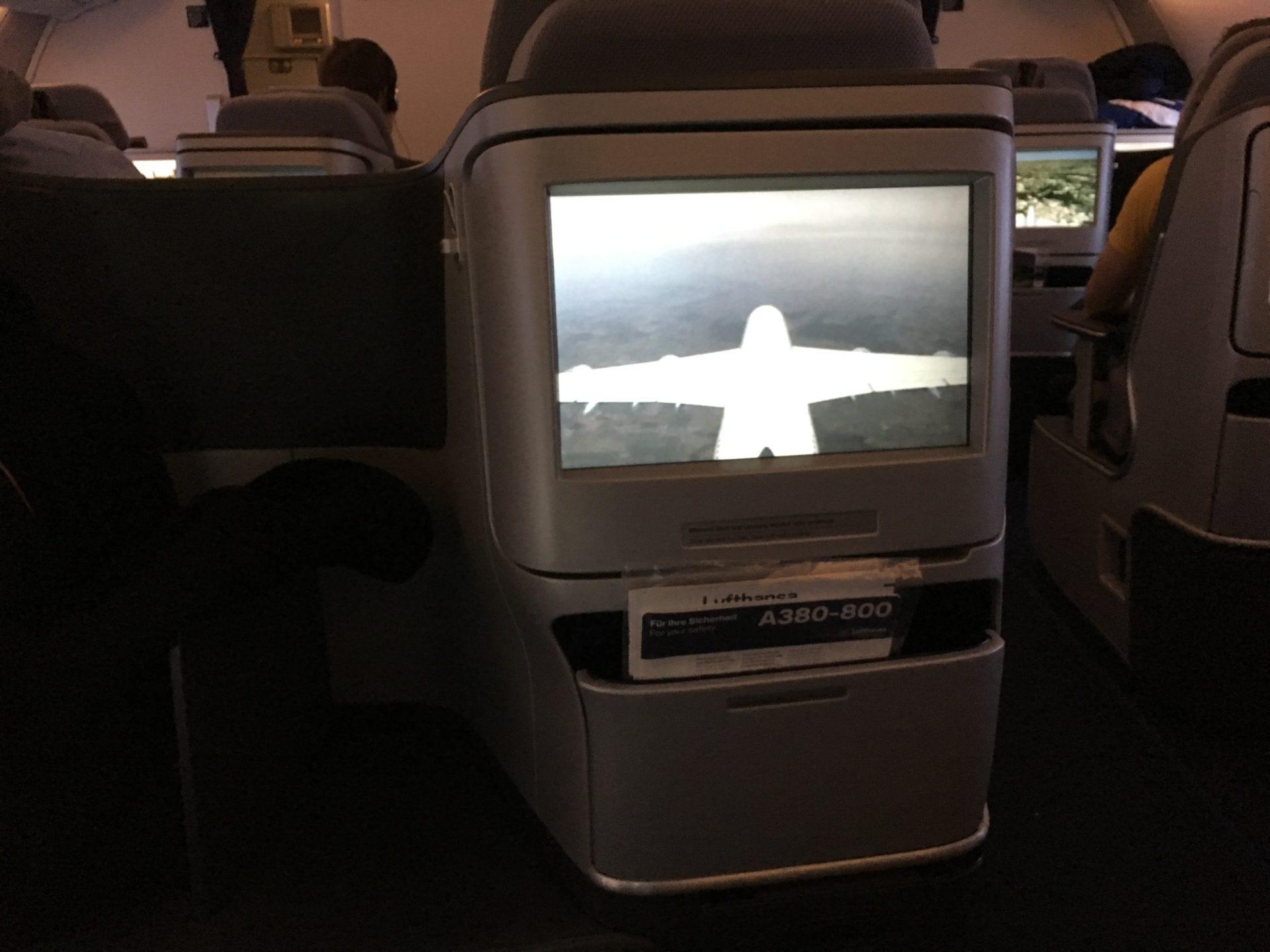 Lufthansa Business Class Airbus A380 Tailkamera