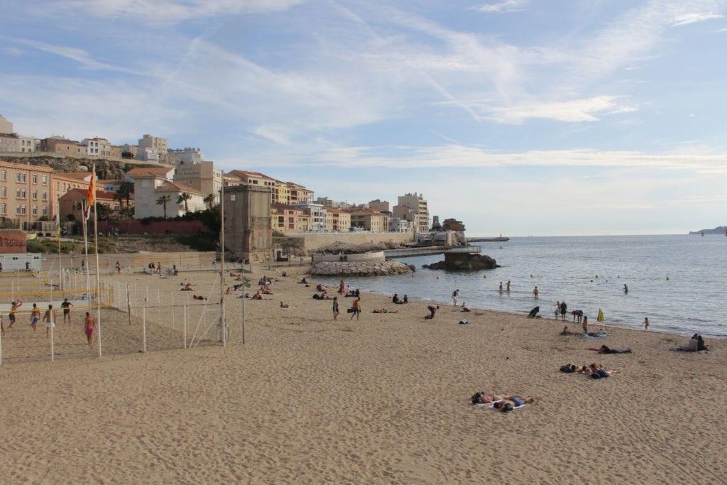 Marseille Anse De Catalans Beach