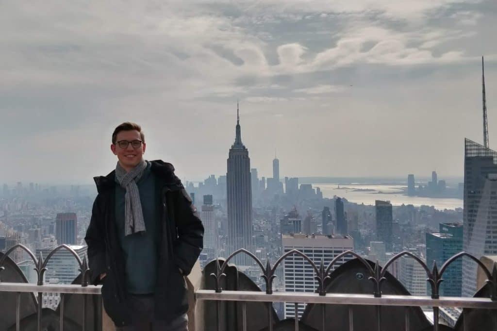 Moritz Stoldt New York Skyline Rockefeller Center