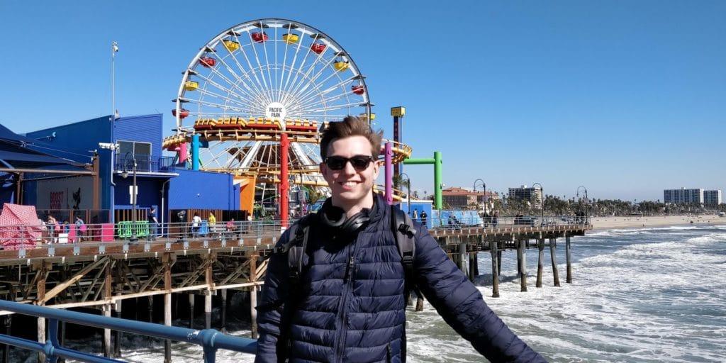 Moritz Stoldt Santa Monica Beach Kalifornien Los Angeles