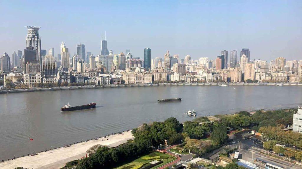 Pudong Shangri La Shanghai Zimmer Ausblick 2