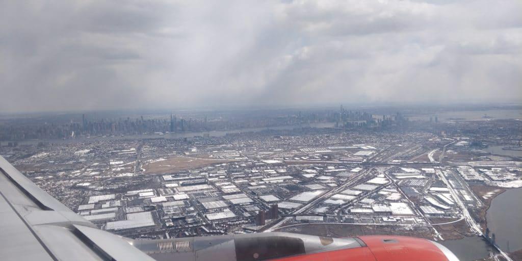 SAS Anflug New York