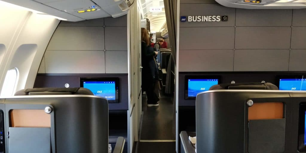 SAS Business Class Airbus A340 Kabine