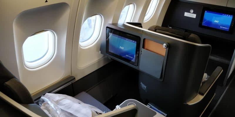 SAS Business Class Airbus A340 Sitz 1