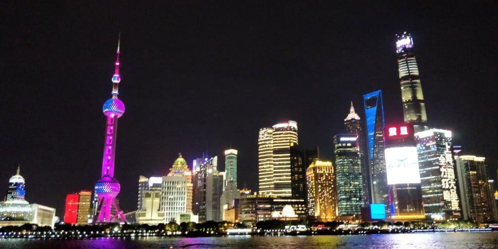 Shanghai Pudong Skyline Nacht