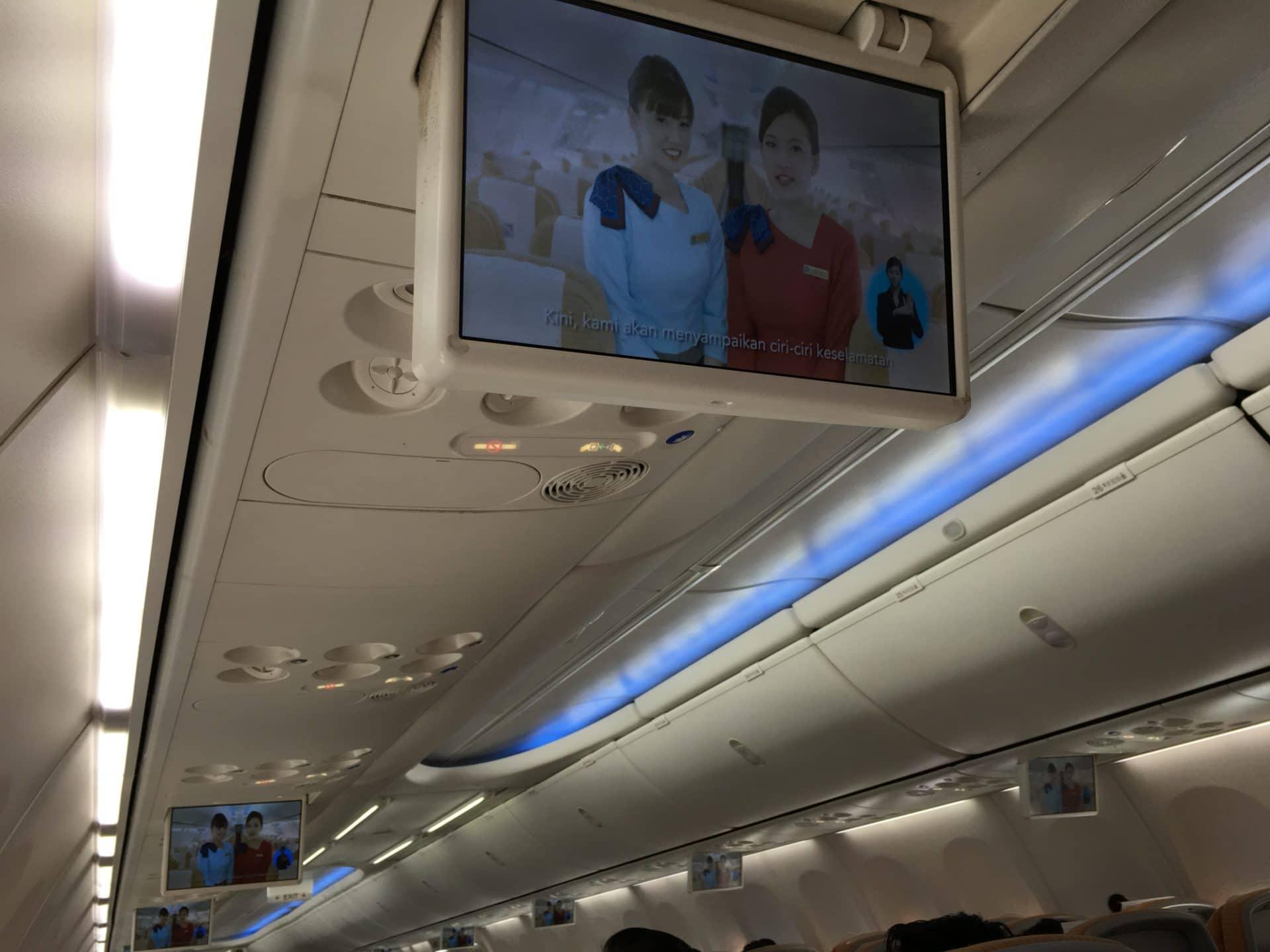 Silk Air Economy Class Kurzstrecke Bildschirm
