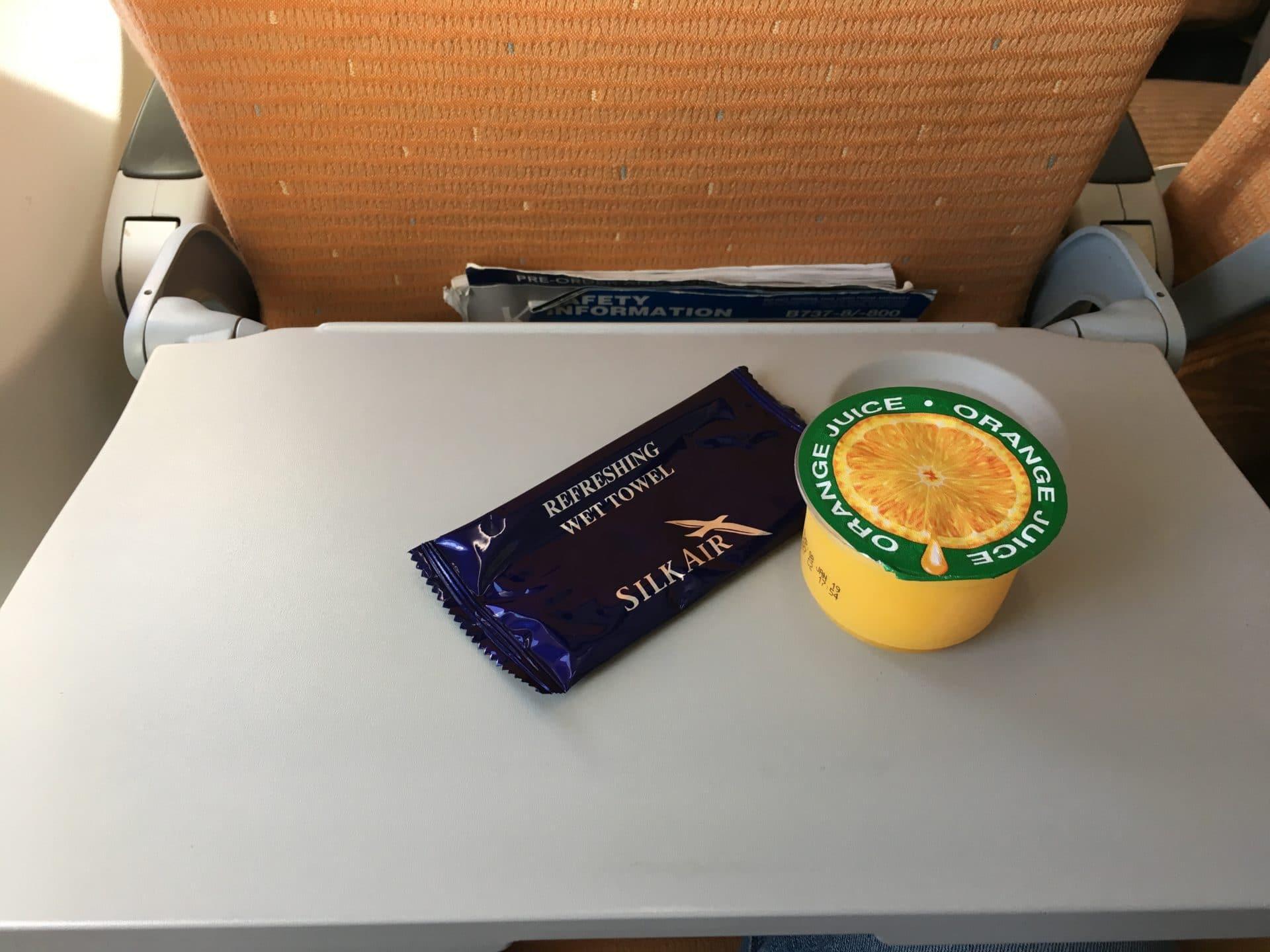 Silk Air Economy Class Kurzstrecke Getränk