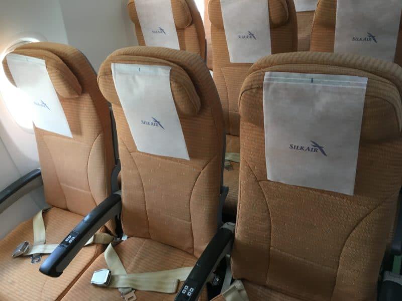 Silk Air Economy Class Kurzstrecke Sitz