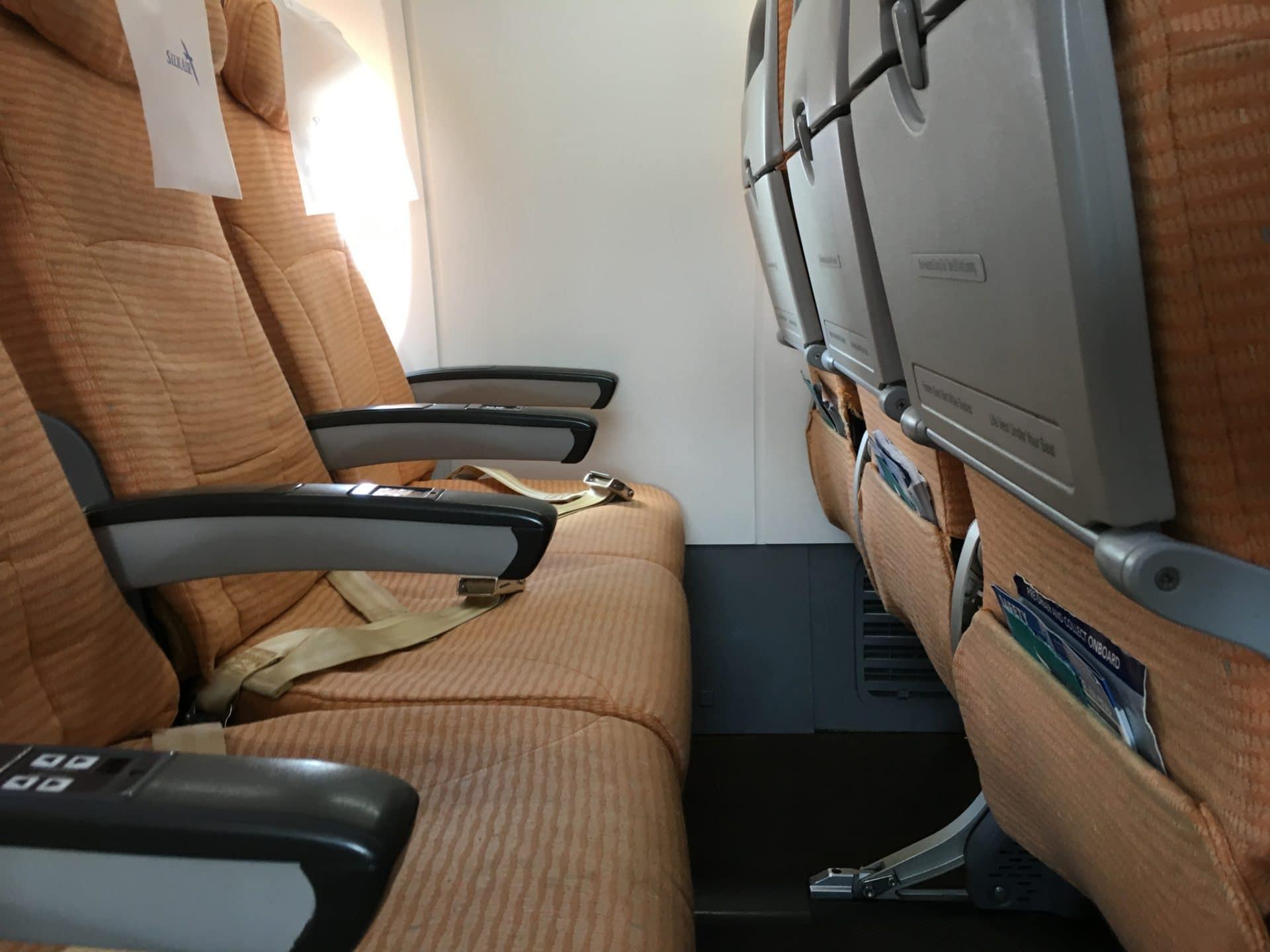 Silk Air Economy Class Kurzstrecke Sitzabstand 4
