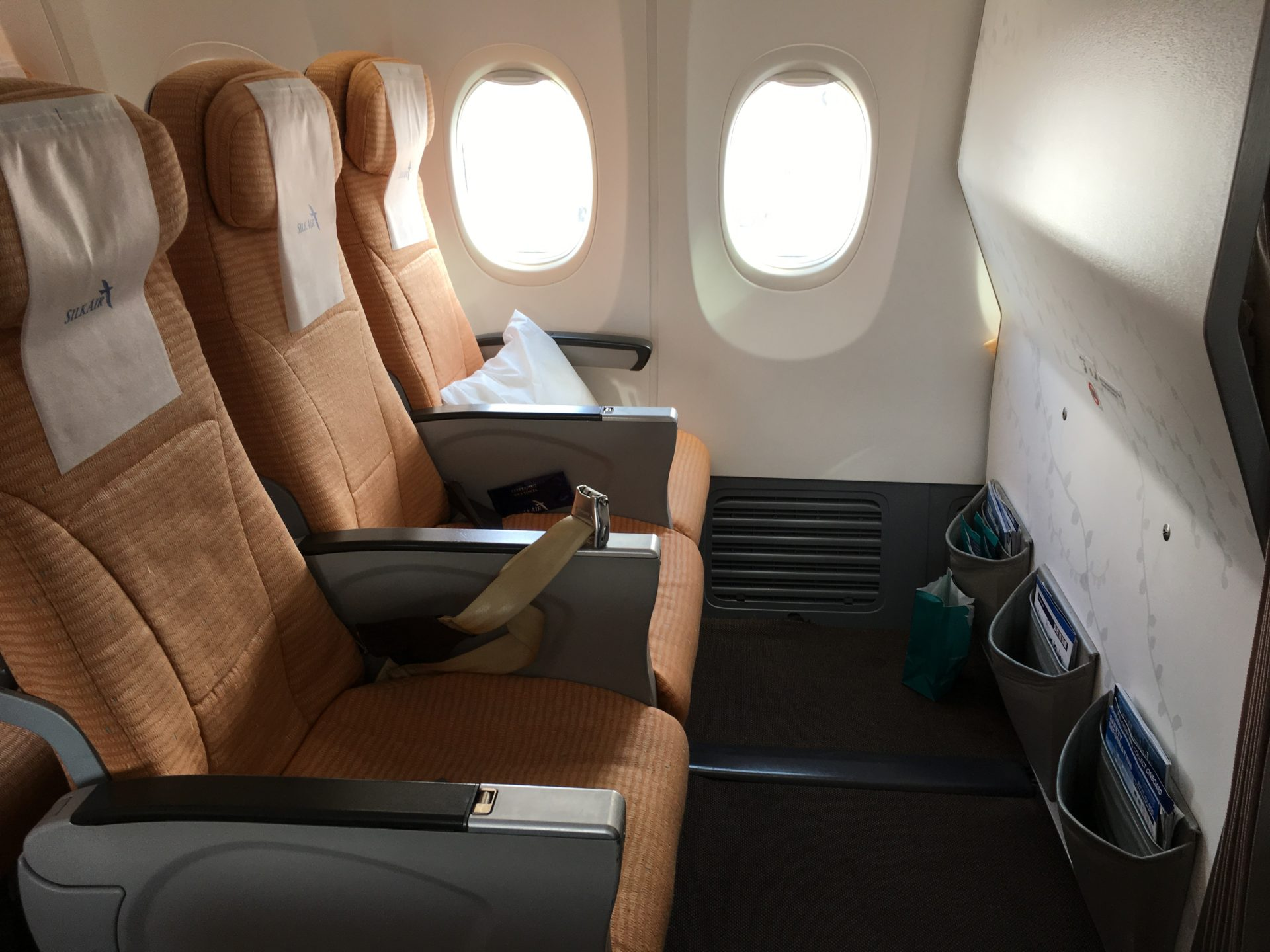 Silk Air Economy Class Kurzstrecke Sitzabstand