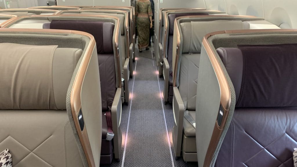 Singapore Airlines Business Class Airbus A350 Kabine